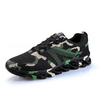 Wholesale in Stock tennis knit chaussure homme casual sport Camouflage flying woven blade running shoes men sneaker trainers