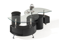 Tempered glass with MDF coffee tables