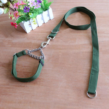 Explosion-proof P Chain 2.5cm Dog Lead Collar Set