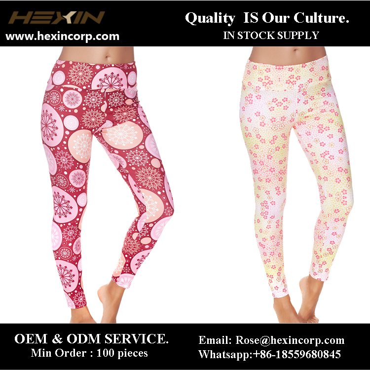 In stock supply wholesale seamless ladies slim leggings manufacturer