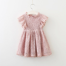 818d4fb2626 2017 Hot Fashion Baby Girl Lace Dress Infant Princess Summer Style Derss  Short Sleeve Hollow Dress