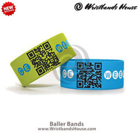 2014 newest customized baller bands | nice looking customized bracelet | fascinating party silicone customized baller bands