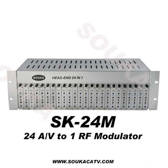 SOUKA 24 in 1 AV to RF Analog Headend with 1 RF Output
