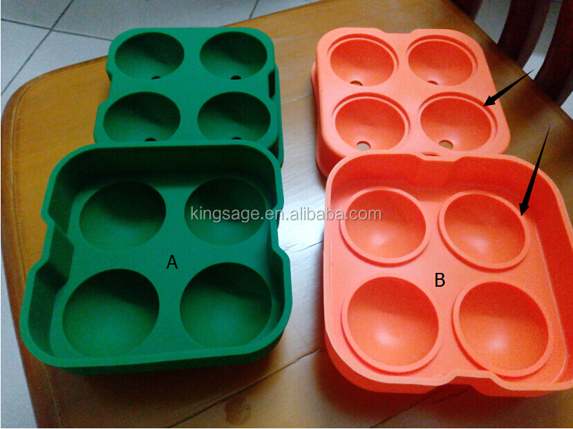 "Amazon hot sale 2.5 inch silicone ice cube tray,2.25"" custom silicone ice cube tray ,square ice cube tray"