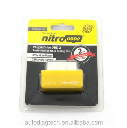 Caja de chip tuning Nitro OBD2 chip de potencia para mayor rendimiento en autom/óviles di/ésel