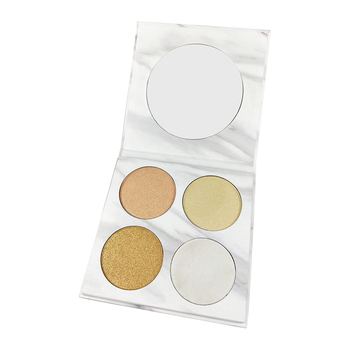 New Arrival Makeup 4 color Highlighter private label low moq in stock free sample highlighter