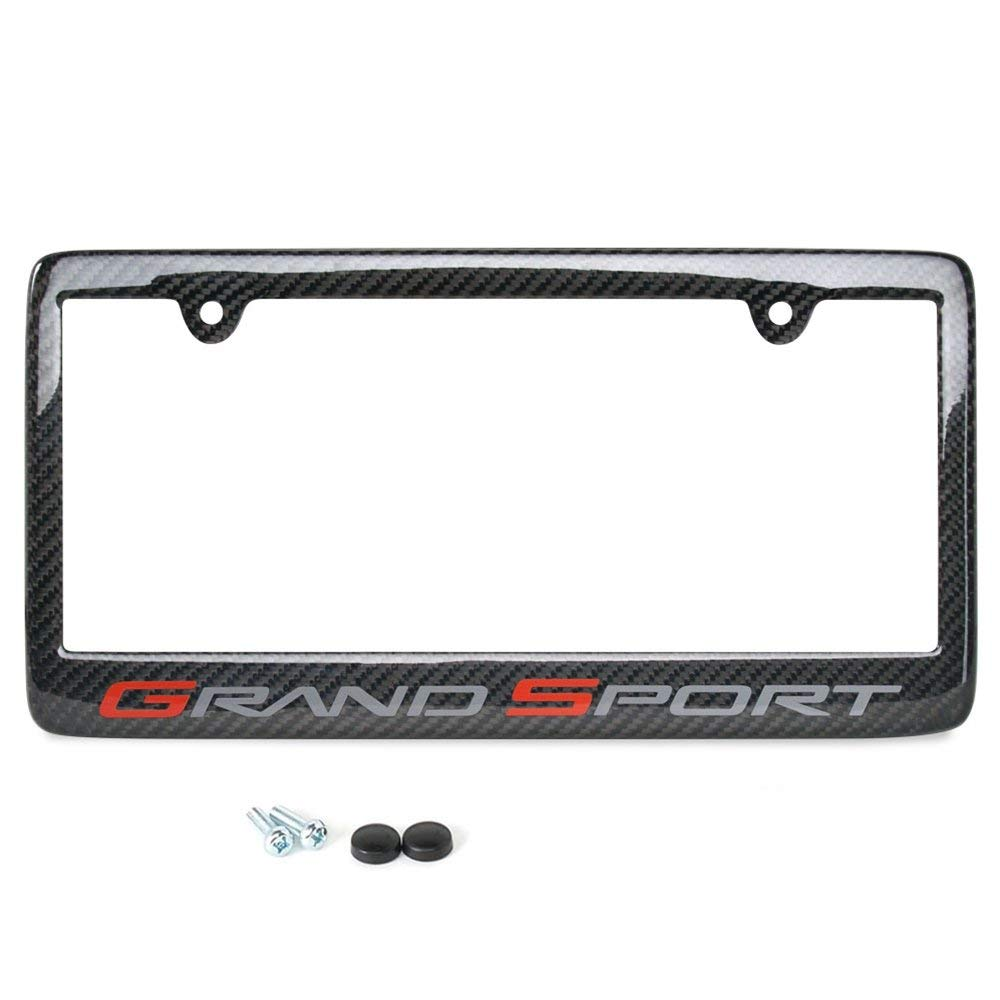 8be18083837cc Get Quotations · West Coast Corvette   Camaro Corvette License Plate Frame  - Carbon Fiber   C6 Grand Sport