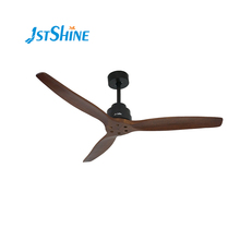 1stshine 60 inch elektrische indoor energie efficiënte <span class=keywords><strong>lage</strong></span> spanning <span class=keywords><strong>watt</strong></span> & noise BLDC massief houten blade 3 CLR LED licht plafond <span class=keywords><strong>ventilator</strong></span>