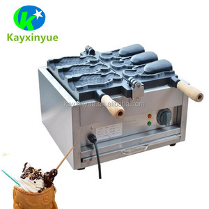 Factory waffle ice cream cone wholesale 220v /commercial fish taiyaki machine