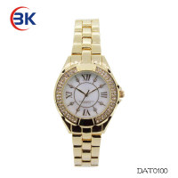 gold plated wrist watch for women custom brand beautiful ladies watch