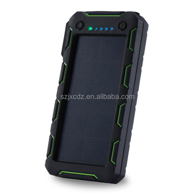 Hotsale 15000mah waterproof solar powerbank with led torch for holiday gift