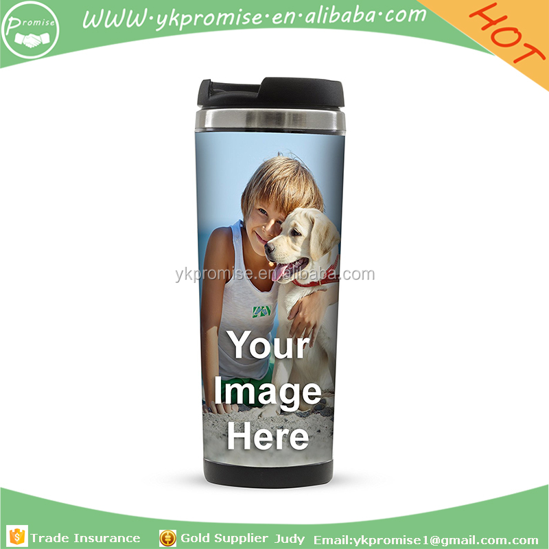 Travel Coffee Mug with photo insert travel mug Insulated Tumbler Cup