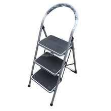 high quality cheap price steel ladder/steel step ladder 2 3 4 5 6 step grey color for living room