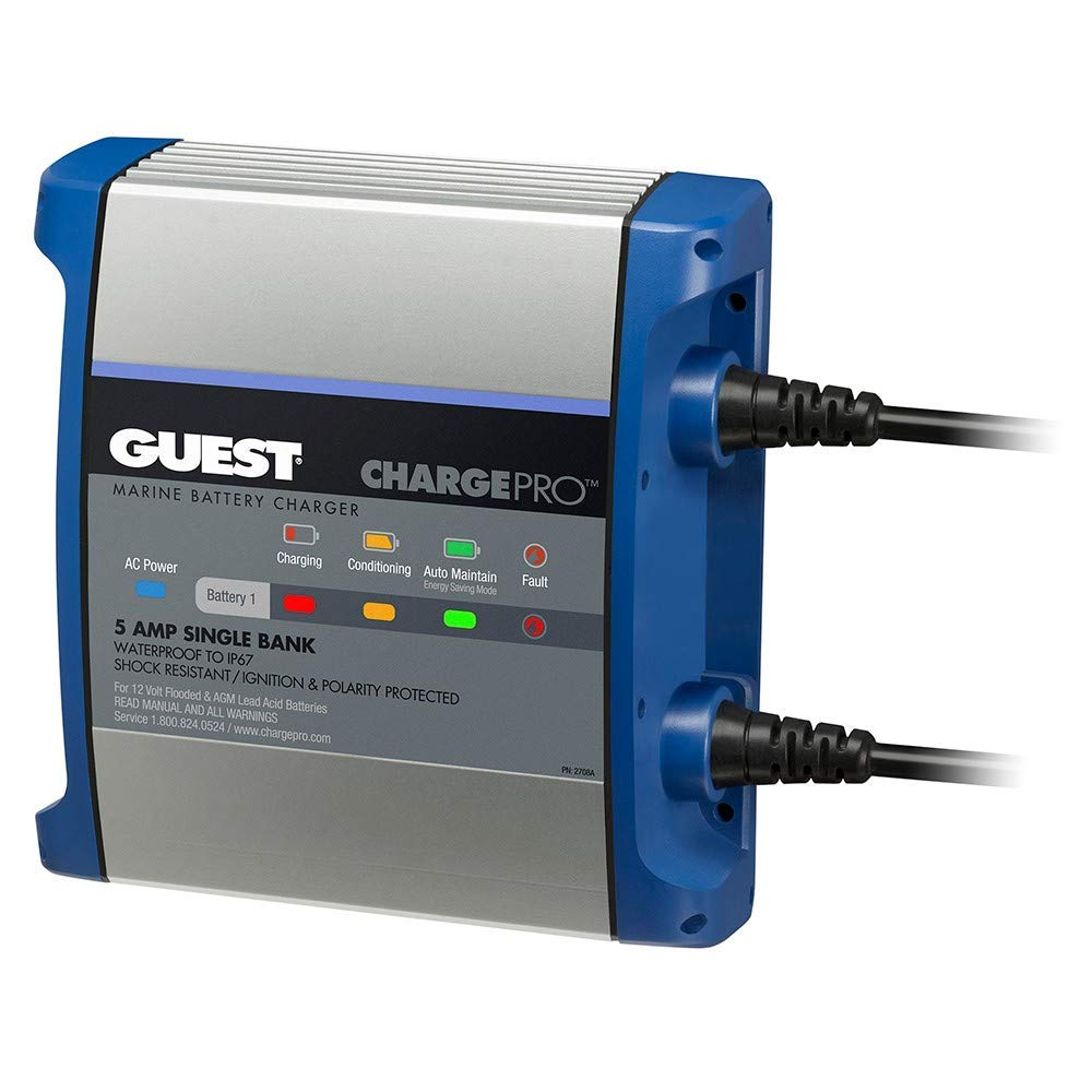 Guest On-Board Battery Charger 5a / 12v - 1 Bank - 120v Input