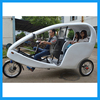 City Touring Electric Three Wheel Tricycle Rickshaw with Cabin Seat