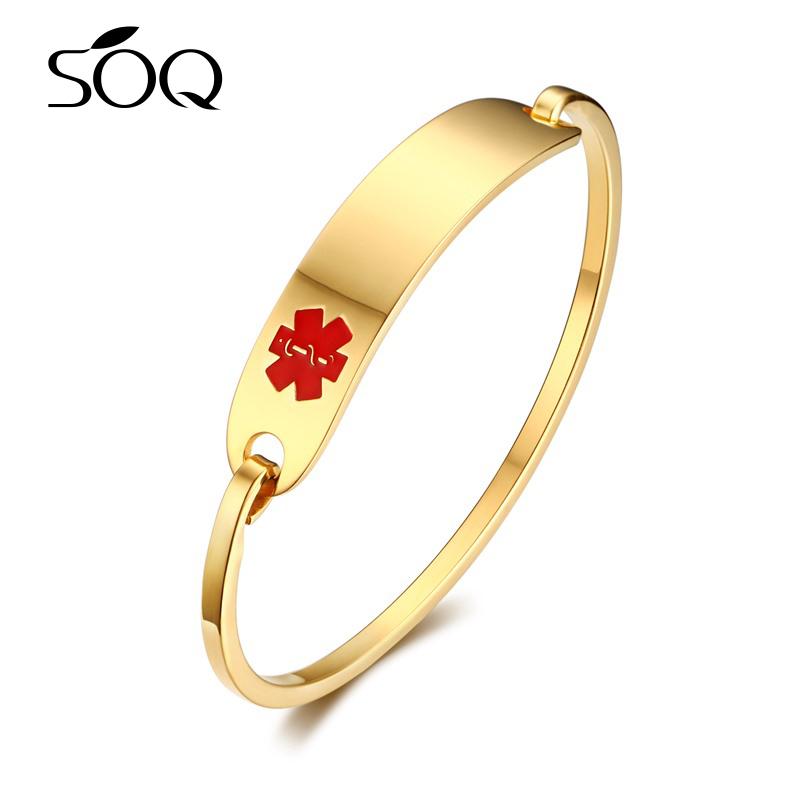 Vogue Women Simple Gold Bangle Designs Bridal Bracelet Engraved ...