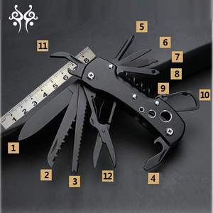 Titanium Black Multifunctional Swiss Knife Multi Purpose Army Folding knife survival Outdoor Camping Survival Multi Tool Knife