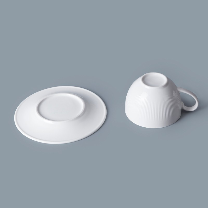 product-Two Eight-Special Design Hotel Ware 90ml Porcelain Espresso Cups With Saucer, Crockery Resta