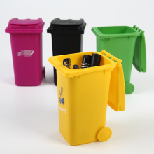Mini Curbside Trash and Recycle Can Set Storage Bins Pen Pencil Cup Holder