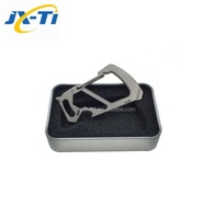 Wholesale multi tool key chain every day carry gear titanium carabiner hook