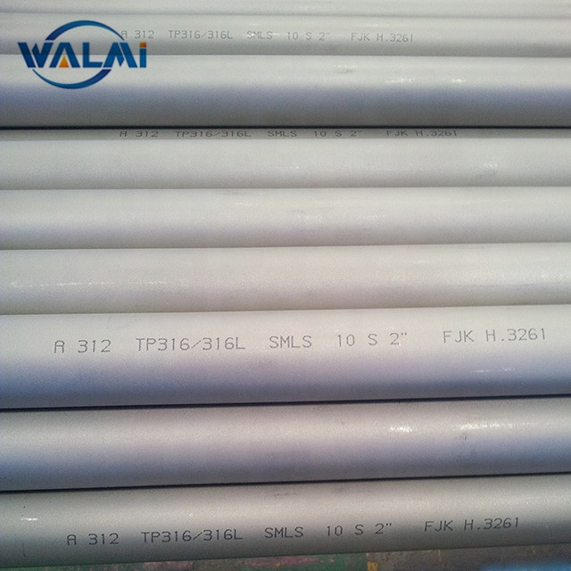 원활한 Stainless Steel Pipe Price TP304/304L/316/316L/321/310 초/347 H /S32205/S31803/904L ASTM A312/A269/A213/A790/A789