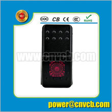 led light/12V 24V Marine rocker switch Carling Style/electric bost rocker switch with rock lights racing switch panel