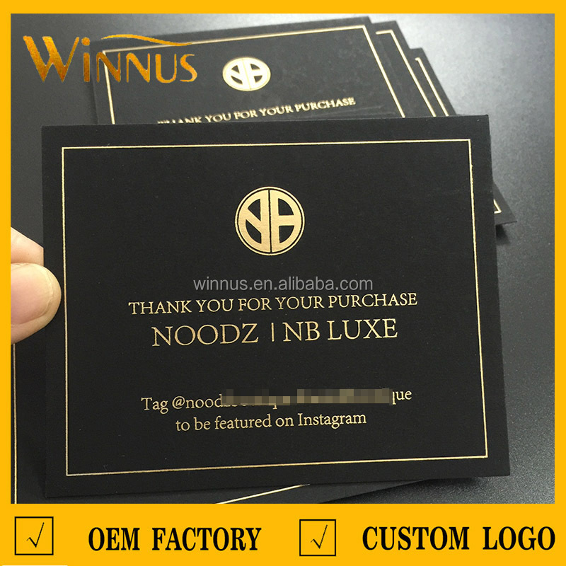 Greeting Card Style Business Thank You Purchasing Use Black ...