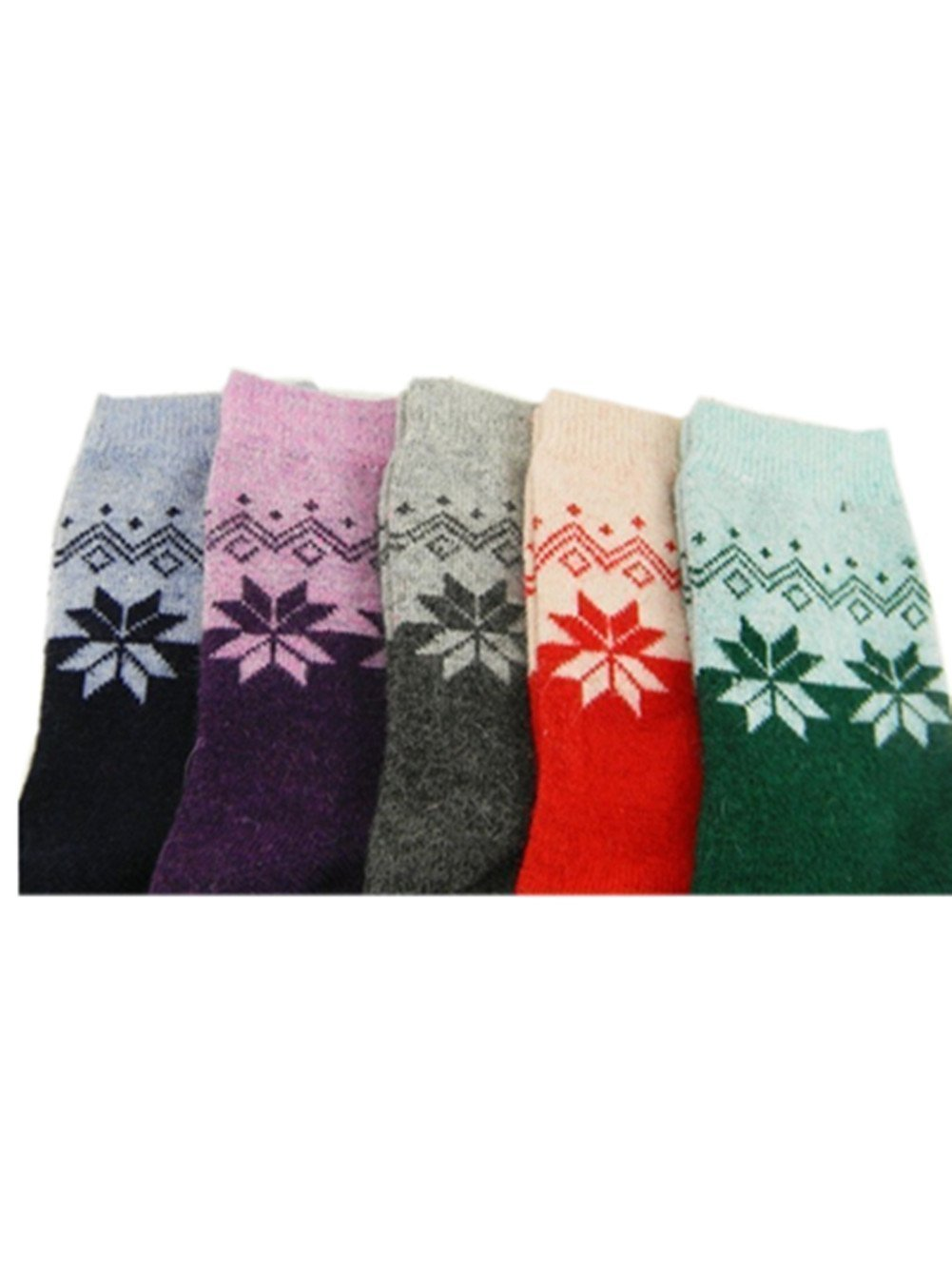 da57715f33 Uzzo™2014 New Unisex Extremes Cold Weather Sock Essential Cashmere Rhombus  Flower Thick Snowflake Maple Leaf Funds Cashmere Rabbit Hair Media Corta  Socks ...