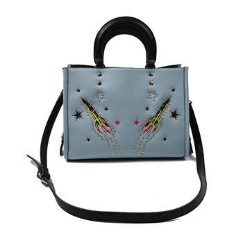 Shoulder Bag Funny Diamond Pu Leather