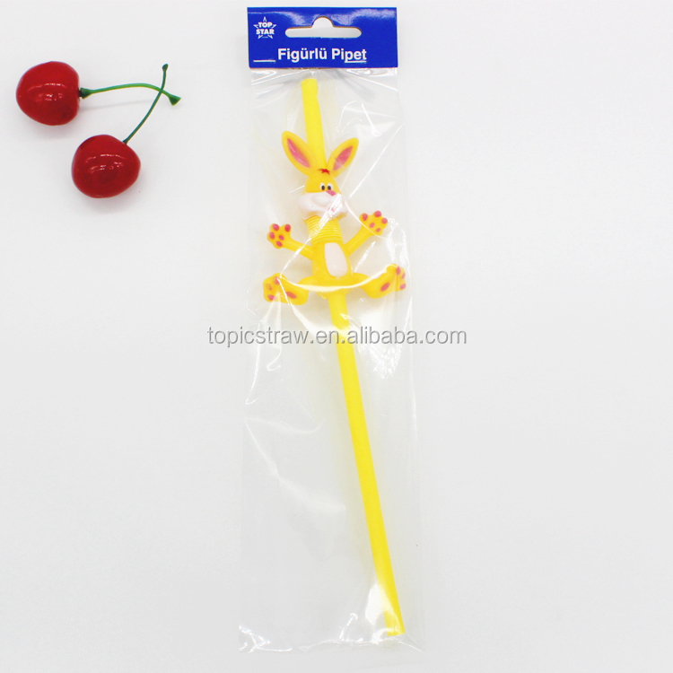 novelty 3d cartoon flexible drinking straw for kids
