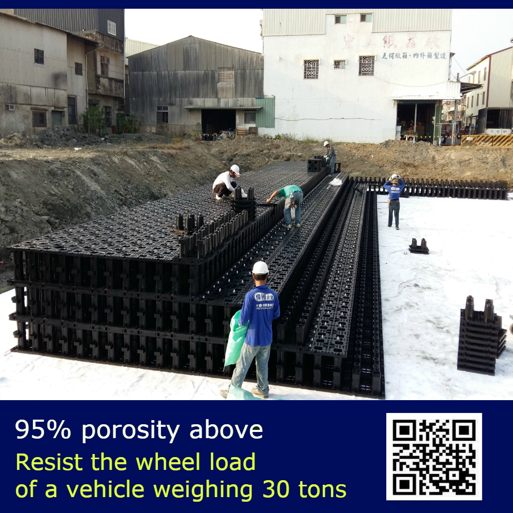 Architect Environmental Materials Resistant Heavy Wheel Reduce Floods Incidence Underground Water Harvesting Tank Modules