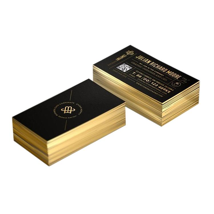 Borda Cor de Ouro Folha De Papel De Impressão Cartão de Visita