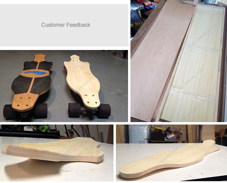 bamboo veneer for longboards customer