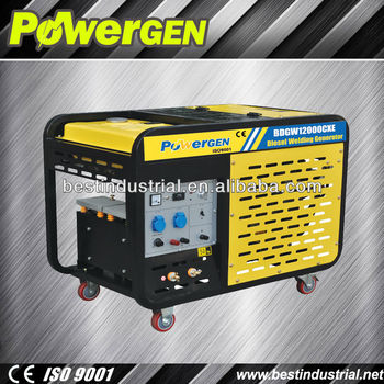 Top Seller!!!POWER-GEN Air Cooled Low Oil Cnsumption and Low Noise 10kw  Auto Start Portable Diesel Welding Generator, View Auto Start Portable Auto