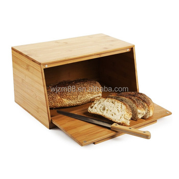 Eco Friendly U0026 High Quality Bamboo Bread Storage Box, Bamboo Wood Bread Bin  Wholesale