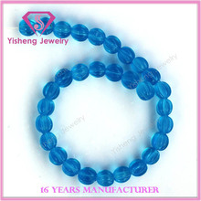 fashion jewelry pumpkin shape blue glaze glass bracelet wholesale