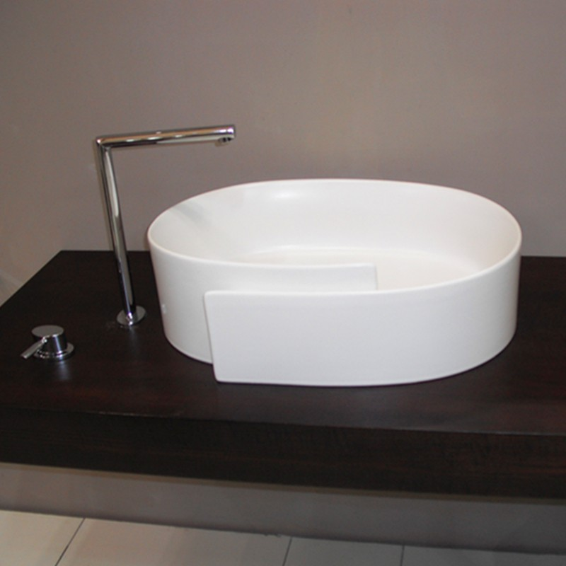 Washing hand single sink white wash bowl bathroom above for Bathroom wash basin designs india