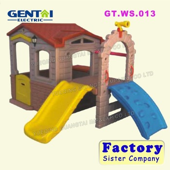 Hot Sale Ldpe Plastic Indoor Slide Combined With Playhouse For Kids ...