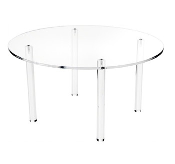 Durable Clear Round Acrylic Dining Table Cheap Acrylic Coffee