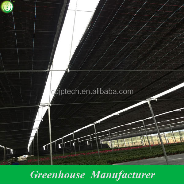 greenhouse light deprivation blackout shading system