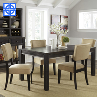 Brown Wood Modern Dining Set/ 4 PC Counter Height Dining Kitchen Set