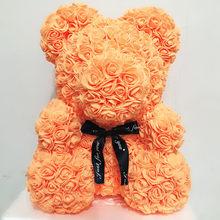 Прямая поставка 40 см милый цветок розы Мишки Тедди пенные мишки Свадебные украшения для дома День рождения День Святого Валентина D подарок ...(Китай)