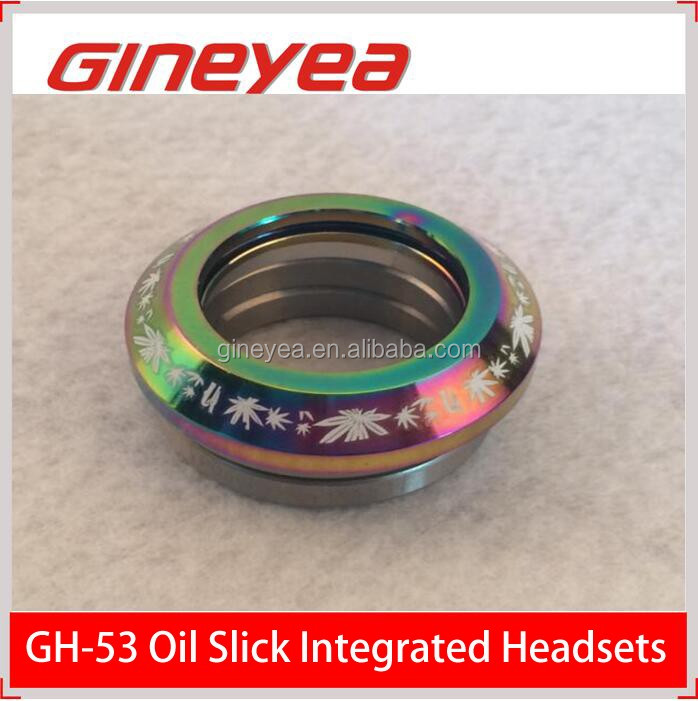 Cheap BMX parts IS42/28.6/H9 Oil slick integrated threadless