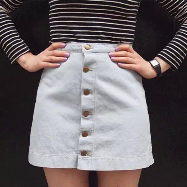 А . а . стиль сексуальный летом старинные пакет хип высокой талии джинсовые шаг юбка yy515