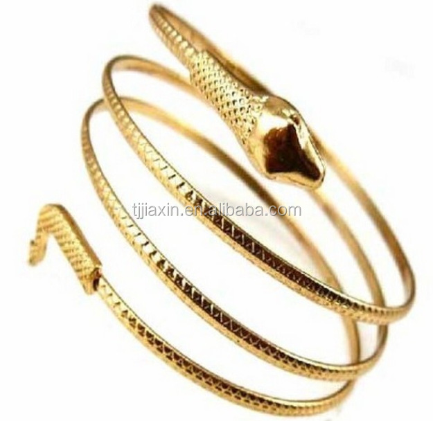 Charm Gold and Silver Punk Cuff Snake Armband Design Bangle Bracelet Anklet Jewelry gold