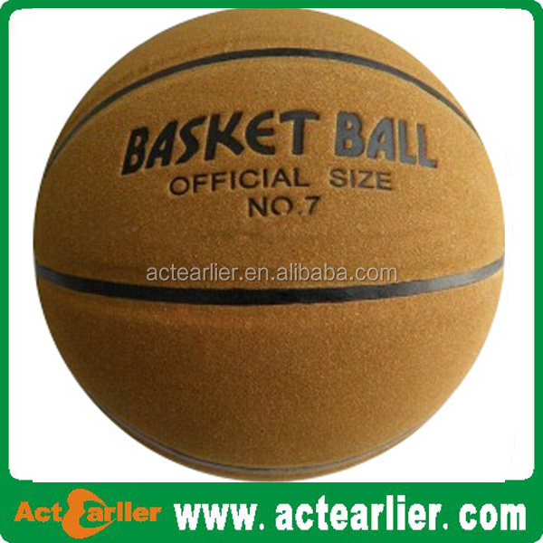 hot sale genuine leather custom print basketball