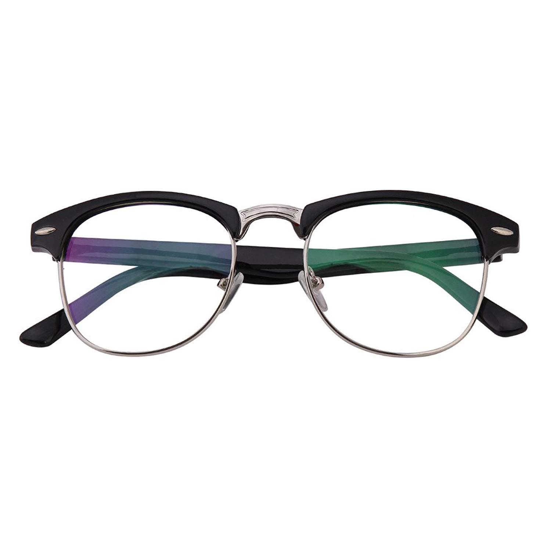 25a2b99e7751 Get Quotations · Bi Tao Mens Women Fashion Black Reading Glasses Men Women  Fashion Readers Eyeglasses 23 Strengths Available