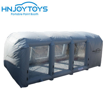 10m long customized truck used mobile convenience inflatable paint booth car workstation station