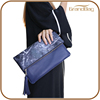 New Fashion Handbag Genuine Cow Leather Marble Pattern Lady Clutch Bag with Tassel Decoration
