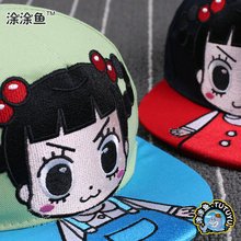 Drop shipping 2015 Kids Snapback Cartoon Embroidery Children Cotton Baseball Cap Baby Girls Snapback Caps Hip